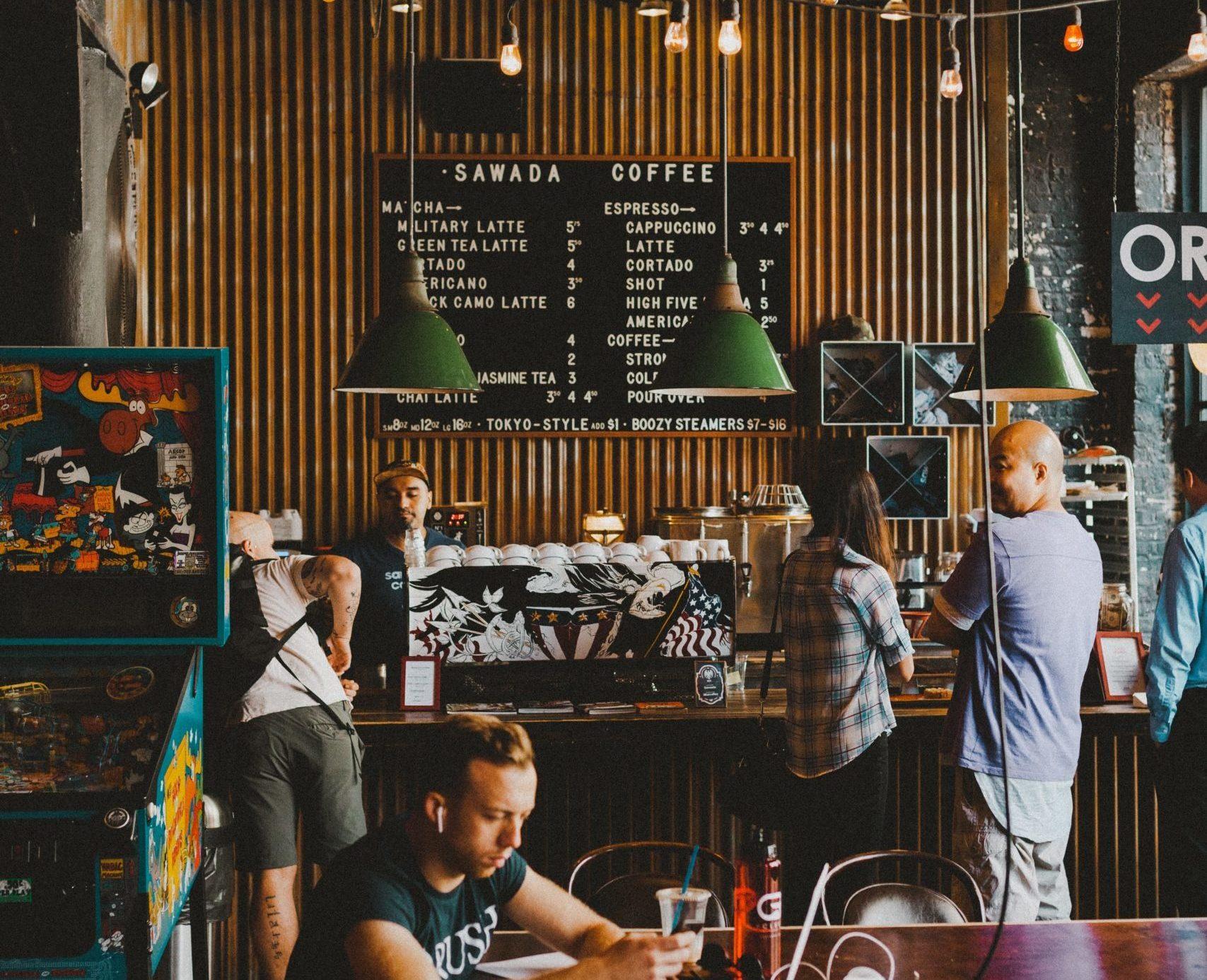 Cafe Gastronomie mit Kunden